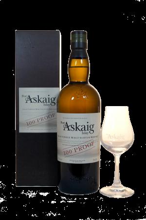 Port Askaig 100 Proof mit Tastingglas