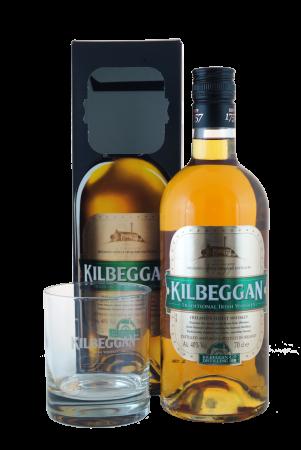 Kilbeggan Irish Whiskey Geschenkpackung mit Whiskyglas