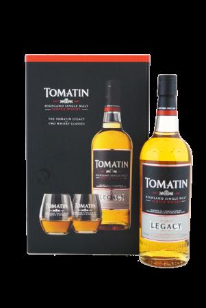 Tomatin Legacy Geschenkverpackung mit zwei Tumblern