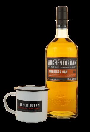 Auchentoshan American Oak mit Kaffeebecher
