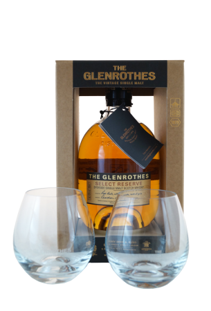 Glenrothes Select Reserve Geschenkpackung mit zwei Whiskytumblern