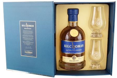 Kilchoman Machir Bay 2015 Geschenkpackung mit 2 Glencairngläsern