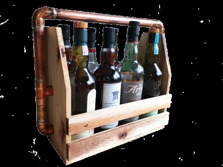Whiskytrage für bis zu acht Flaschen